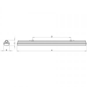TERRA LED - 1277 × 116 × 99 mm